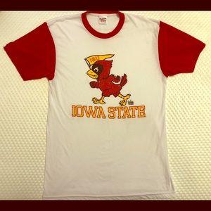 Red/white Iowa State t-shirt with 1965 logo